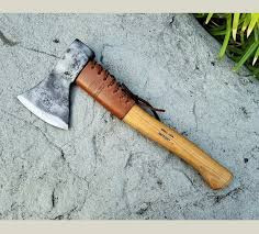 helko leather handle guard hatchet collar
