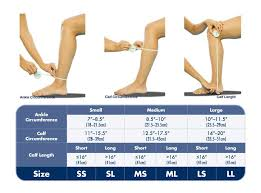 Sigvaris Measurement Chart Sigvaris Sizing Chart Makes It Easy To Determine The Correct
