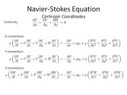 12 navier stokes equation cartesian coordinates continuity x momentum y momentum z momentum