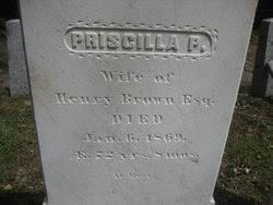 Priscilla Palmer Eells Brown (1796-1869) - Find A Grave Memorial
