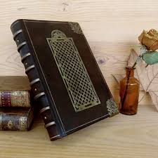 large leather book