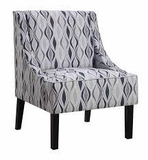 Blue Pattern Accent Chair Beauteous Light Blue Blended Linen Accent Chair