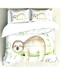 palm leaf bedding palm duvet cover sloth duvet cover young animal on palm tree print palm