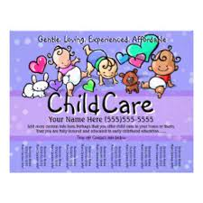 Samples Of Daycare Flyers Child Care Babysitting Day Care Custom Text Color Flyer