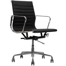 office chair genuine leather white. Black Genuine Leather Ribbed Mid Back Office Chair White