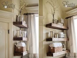 diy bathroom shelves to increase your
