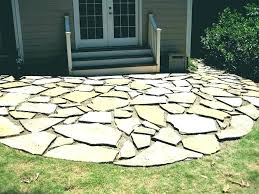 cost of flagstone patio install luxury for circular shape in backyard how to stones p walkway cost of flagstone