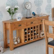 sideboard with wine rack. Delighful Wine Cherington Oak 3 Drawer Sideboard With Wine Rack Inside With A