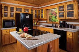Teak Wood Kitchen Cabinets Kitchen Teak Wooden Kitchen Cabinet Gray Marble Countertop Black