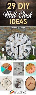 diy wall clock ideas