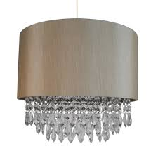 details about modern easy fit drum shade soft gold fabric ceiling pendant light shade chandeli