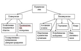 Контрольная работа Правовые аспекты организационно правовых форм  Подробная классификация юридических лиц представлена на рисунке 1