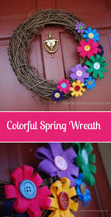 love this happy colorful diy spring wreath