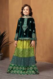 Pakistani Kids Salwar Kameez Designs Maria B Fancy Kids Dresses Designs For Girls 2019 20 Collection