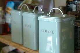 Kitchen Storage Canisters Garden Trading Set Of 3 Canisters Tea Coffee Sugar In