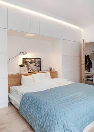 Modern Small Bedroom Designs Modern Small Bedroom Ideas Podium Bed Wardrobe Neutral Color Gray