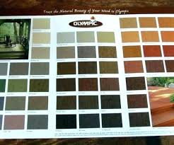 Olympic Semi Transparent Stain Color Chart Cookingvideos Co