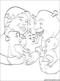 Mooie Kleurplaat Familie De Shrek Gratis Kleurplaten