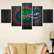 neoteric florida gator wall art college football 5 panel on canva print a h decor wallpaper wallet