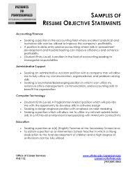 Entry Level Resume Objective Samples Resume Objectives Samples Stunning Resume Objective Samples In For 24