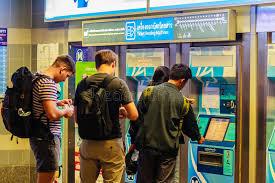 Bu Vending Machines Fascinating Bangkok Thailand February 48 48 Unidentified Passenger Bu