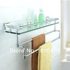 chrome bathroom shelf bathroom glass shelf with towel bar chrome chrome bathroom shelves for towels milano