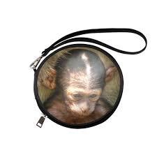 sweet baby monkey round makeup bag model 1625