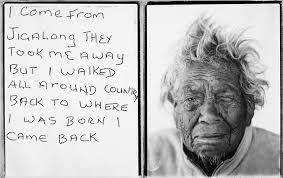 marnti warajanga i come from jigalong they took me away but i walked all around country back to