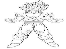 Goku Super Saiyan Coloring Pages With 28 Collection Of Dragon Ball Z