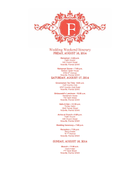 wedding itinerary template free download, edit, create, fill and Wedding Week Itinerary Template free download wedding itinerary template wedding week itinerary template design