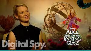 Mia Wasikowska on Alice in Wonderland sequel Through the Looking Glass -  YouTube