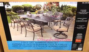 9 piece cast aluminum dining set 999 97