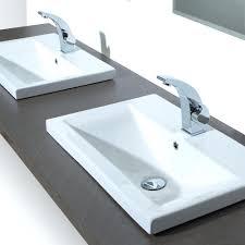 Bathroom Sink ~ Bathroom Sink Materials Tile Vanity Top With 3 Of ...