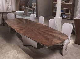 Ausziehbarer Tisch In Eingelegtem Holz Für Wohnzimmer