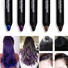1 piece hair colour lipstick beauty temporary coloured hair dye black hair chalk stick makeup 2016