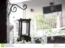 De Lamp Van Het Tuinhuis Verfraait Wijnoogst Stock Afbeelding