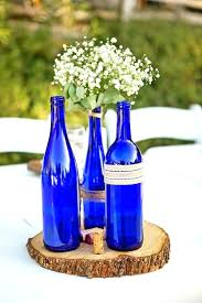 blue glass wine bottles decorating wine bottles for weddings best images about wedding centerpieces ideas archive