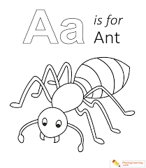 A Is For Ant Coloring Page Free A Is For Ant Coloring Page