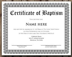 Sample Baptism Certificate Template Delectable Baptism Certificate Template Publisher Feedscast