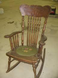 summer days antique wooden rocking chair