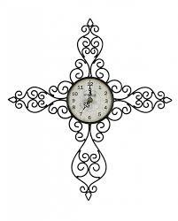 montana lifestyles antique scroll metal wall clock