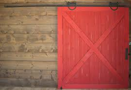 red barn door. Is There Anything Better Than A Red Barn Door? Notice The Sliding Hardware At Top- Each Of These Doors Are On Track, Essentially An Exposed Door S