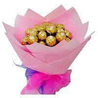 birthday gifts in hyderabad 16 pcs ferrero rocher bouquet delivery to hyderabad