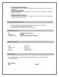 Sample Sap Resume Sap Mm Materials Management Sample Resume 10 00