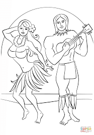 Luau Party Coloring Page Free Printable Coloring Pages