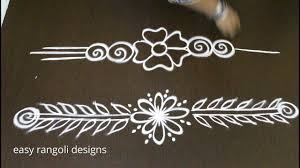 Side Rangoli Designs Images Side And Border Designs For Kolam Latest Rangoli Side