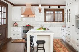 white traditional kitchen copper. Plaza Small Kitchen Savvy White Traditional Copper E
