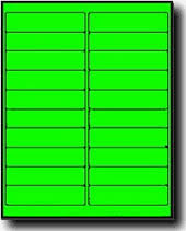 Avery 5261 Label Template 400 Fluorescent Neon Green Laser Only Labels 4 X 1 20 Sheets Use Avery 5261 Template