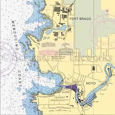 California Nautical Charts California Fort Bragg Noyo Mendocino Coast Nautical Chart Decor