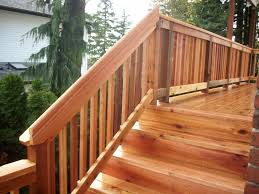 cedar deck rail ideas